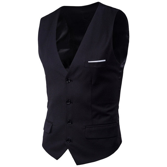 Men'S Business Casual Slim Vests Suits