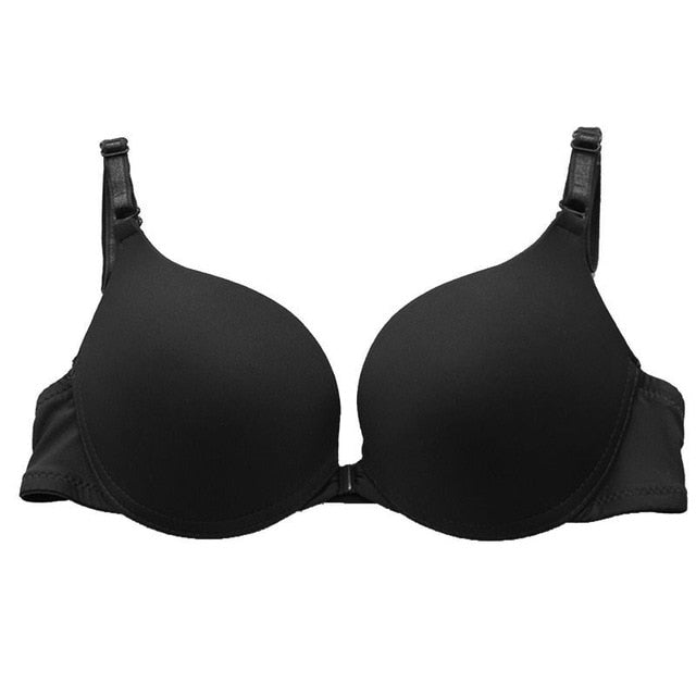 6 Colors Fashion Women Sexy Lingerie Front Closure Lace Push Up Seamless Underwire Bra Women Underwear Bras - Sheseelady