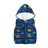 Cheaper Autumn Winter Warm Kids Vests For Boys Cartoon Rainbow Dinosaur Outerwear Sleeveless Hooded Jackets Gilet Baby Boy Coats - Sheseelady