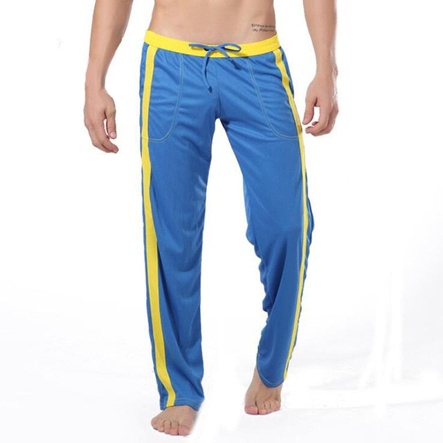 Men Sleepwear Polyester Loose Pants Thermal Underwear