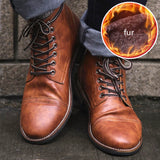 High Quality British Men Boots Autumn Winter Shoes Men Fashion