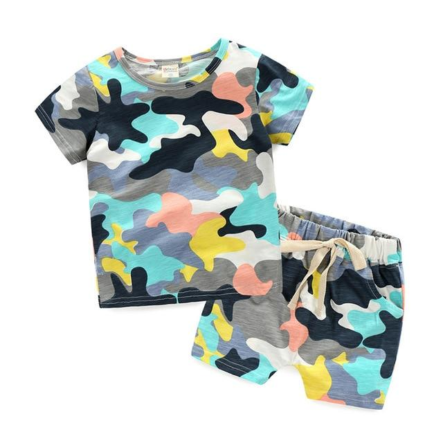 Baby Kids Cotton T-Shirt+Pants Two-Piece Set - Sheseelady