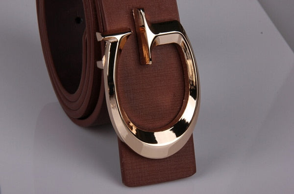 Cody Steel Women Casual Belt Fashion Smooth Buckle Brand Leather Belt For Girl Business Split Leather Belt Woman - Sheseelady