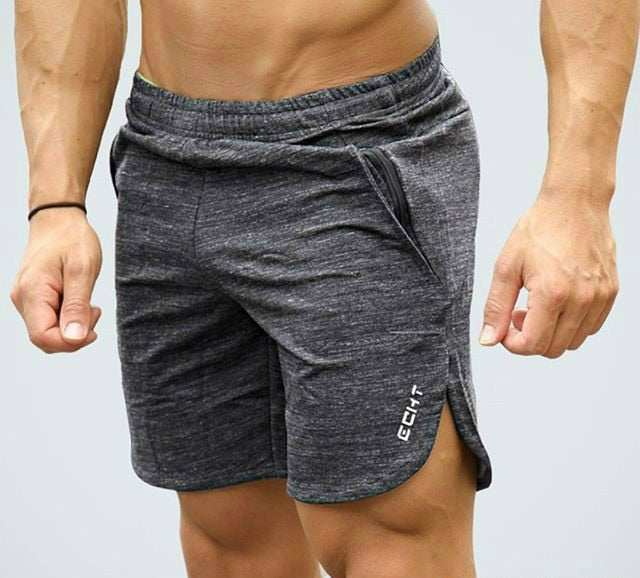 New Men Fitness Bodybuilding Shorts Man Summer Gyms Workout Male Breathable Mesh