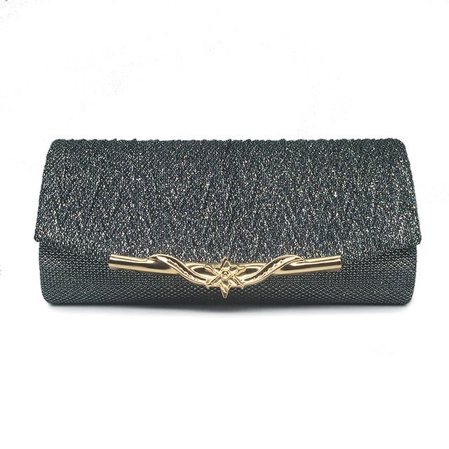 Polyester Party Banquet Glitter Clutch Bag For Girls