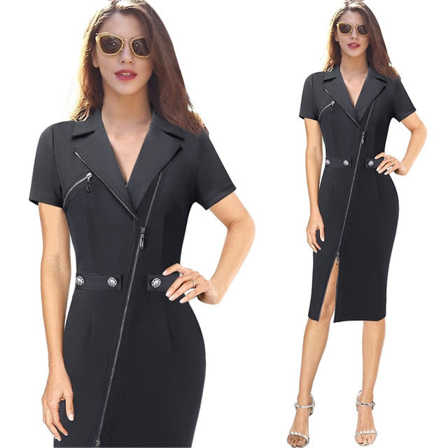 Sexy Elegant Casual Office Work Party Sheath Dress