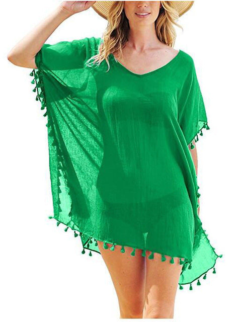 Summer One Piece Tassel Ladies Bikini Cover Up