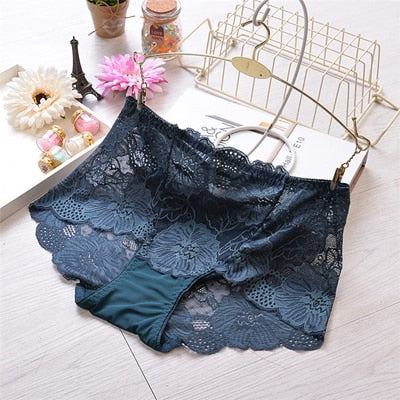 Ropa Interior Femenina Sexy Lingerie Briefs Women Underwears Plus Size 5Xl Lace Flower Transparent Hollow Women'S Panties