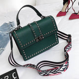Women Bags Luxury Handbags Women Messenger Bags Cover Rivet Bag Girls Fashion Shoulder Bag Ladies Pu Leather Handbags