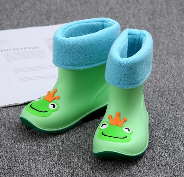 Rain Waterproof Baby Non-Slip Rubber Kids Shoes
