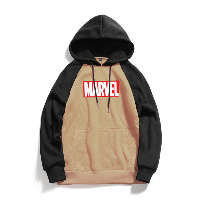 Men High Quality Marvel Letter Printing Hoodies