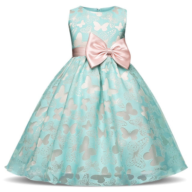 Fancy Butterfly Kids Wedding Flower Girls Dress - Sheseelady