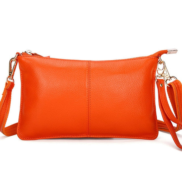 Candy Color Genuine Leather Bag For Women'S Fashion - Sheseelady