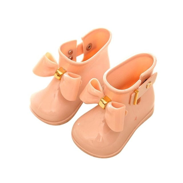 Cute Baby Jelly Waterproof Rain Shoes For Girl - Sheseelady
