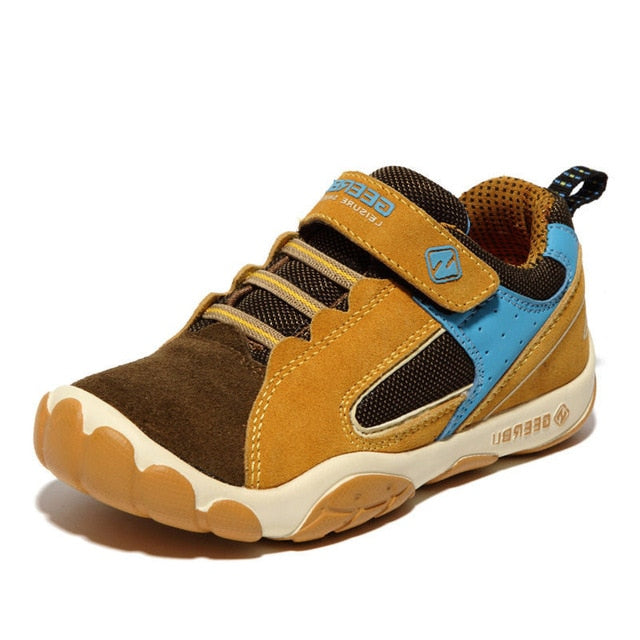Genuine Leather Waterproof Children Shoes For Unisex