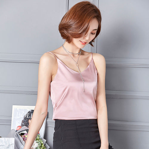 Solid Sleeveless Casual Tank Tops Ladies Blouses