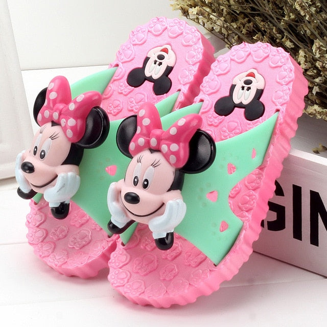 Flip Flop Cartoon Mickey School Kids Slippers