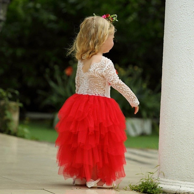 Halloween Costume Kids Long Sleeve Dresses For Girls
