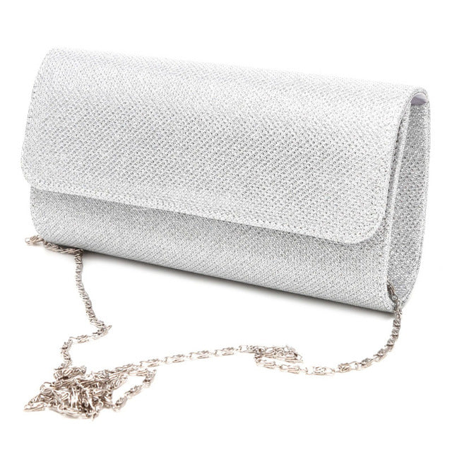 Shine Silk Shoulder Bag & Bridal Clutch Party Bag