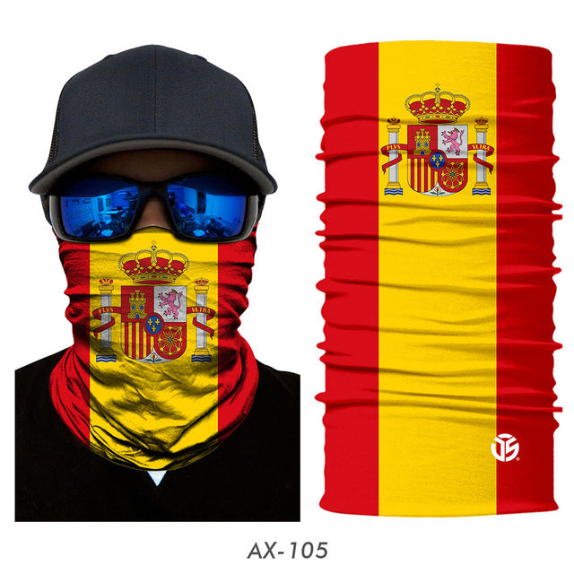 3D National Flag Spain Russia Scarves - Sheseelady