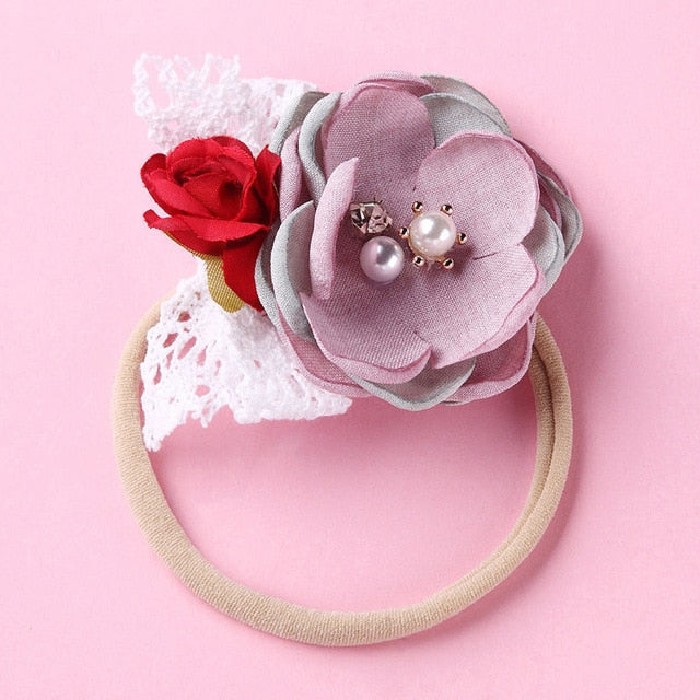 Newborn Baby Elastic Princess Hairbands