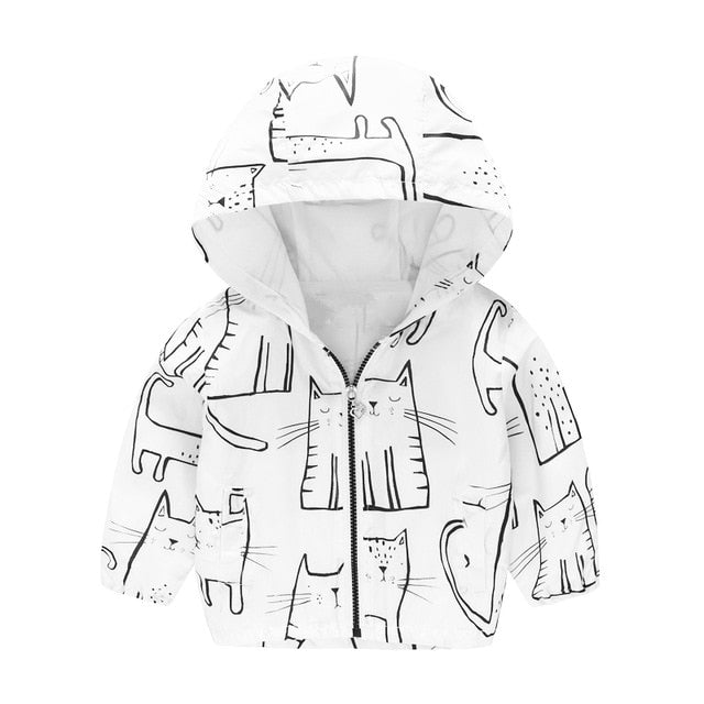 Cartoon Printed Hooded Jackets For Boys&Girls - Sheseelady