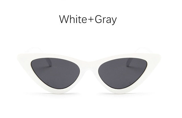 Cat Eye Shade For Women Fashion Sunglasses Brand Woman Vintage Retro Triangular Cateye Glasses Oculos Feminino Sunglasses Sexy - Sheseelady
