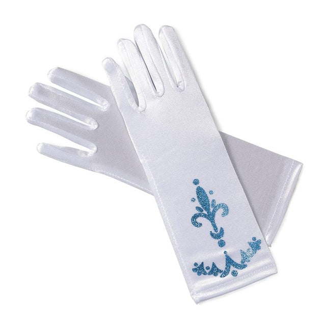 Long Finger Gloves Sequins Printed Cosplay For Girls