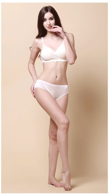 Women Underwear Sexy Briefs Low Waist 100% Real Silk Underwear Panties Briefs Female Underpants