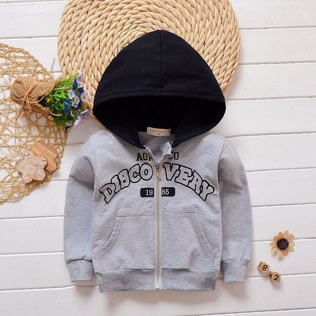 Hooded Sweatshirt Kids Casual Sportswear For Unisex