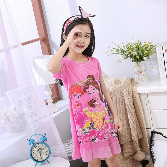 Printed Pajama & Nightgowns For Kids Girls