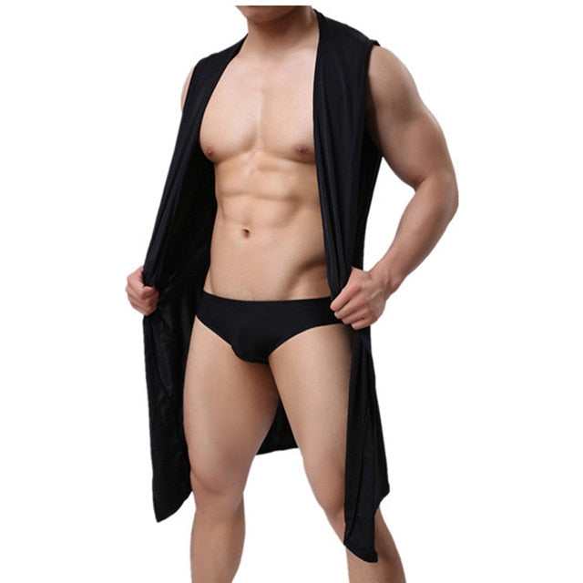New Men'S Fashion Bathrobe Massage Clothes