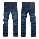Casual Slim Fit Straight High Stretch Feet Skinny Jeans - Sheseelady