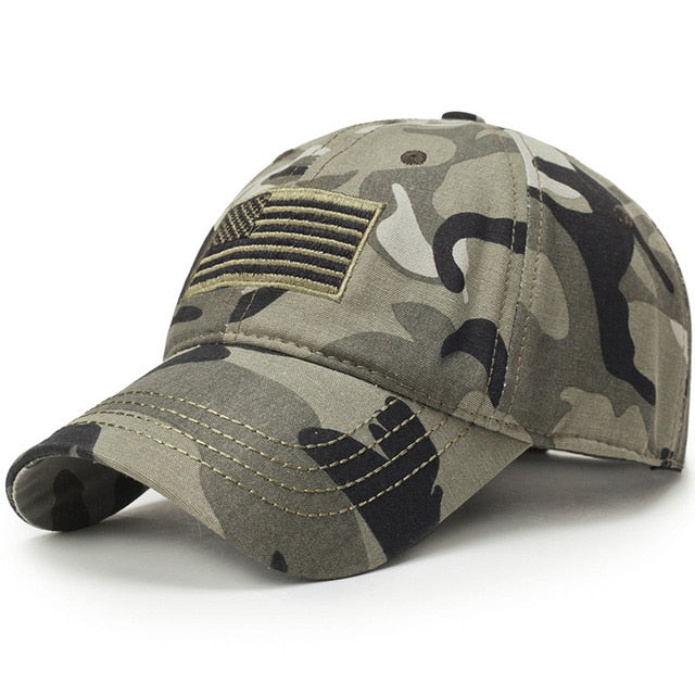 New Usa Flag Camouflage Baseball Cap For Men