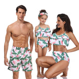 Family Matching Swimwear Beachwear Mommy And Me Swimsuit Mother Daughter Father Son Clothes Dresses High Waist Bikini Look Mum - Sheseelady