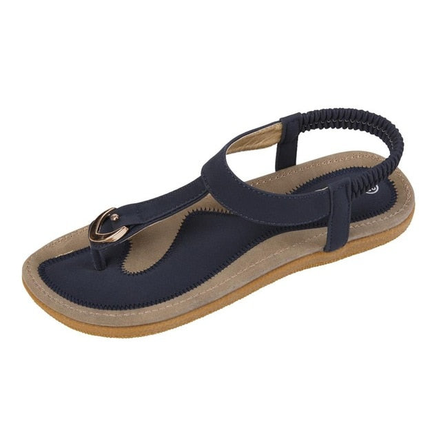 New Women Sandal Flat Heel Sandalias Femininas Summer Casual Single Shoes Woman Soft Bottom Slippers Sandals