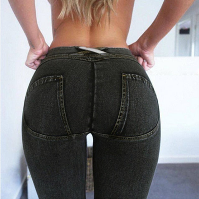 Push Up Skinny Button Zipper Sexy Jeans