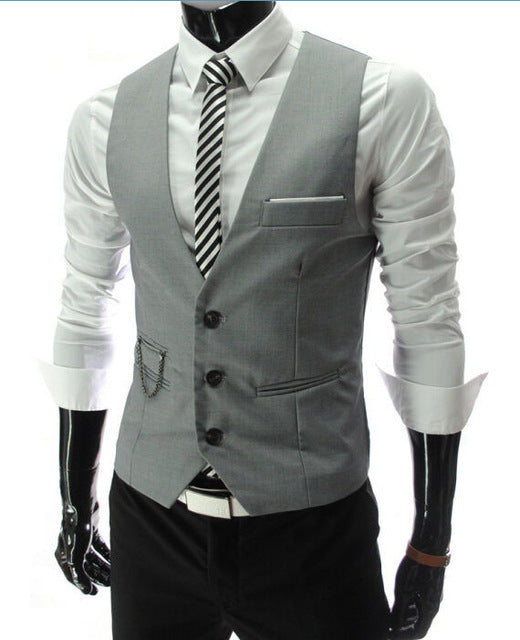 Vests For Men Slim Fit Casual Sleeveless Formal Business Jacket