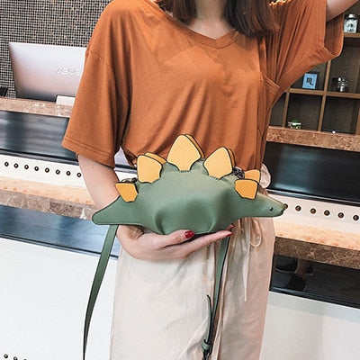 Creative Chameleon Cartoon Handbags Flap 3D Funny Dinosaur Animal Messenger Bag Panelled Shoulder Crossbody Bags Girl Gift - Sheseelady