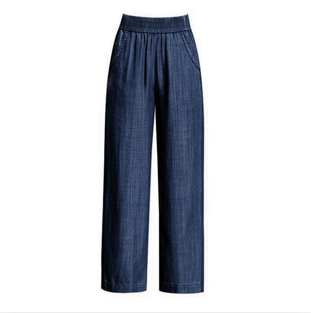 Summer Cotton Casual Wide Leg Slimming Jean