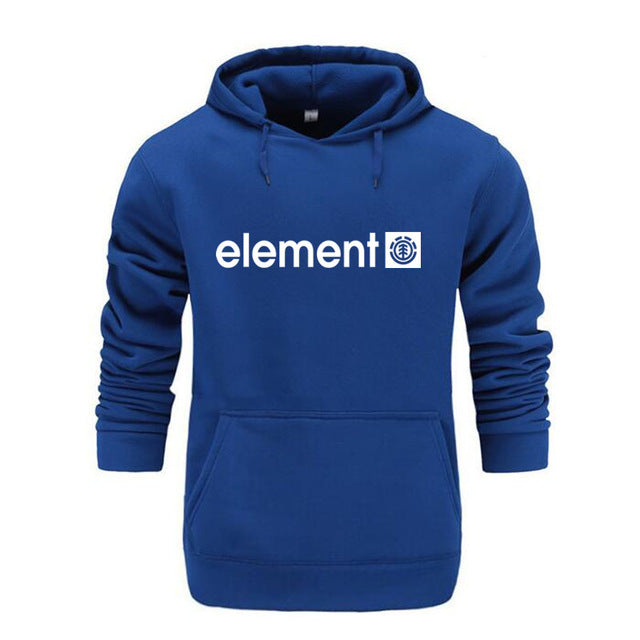 Men High Quality Element Letter Printing Long Sleeve Hoodies