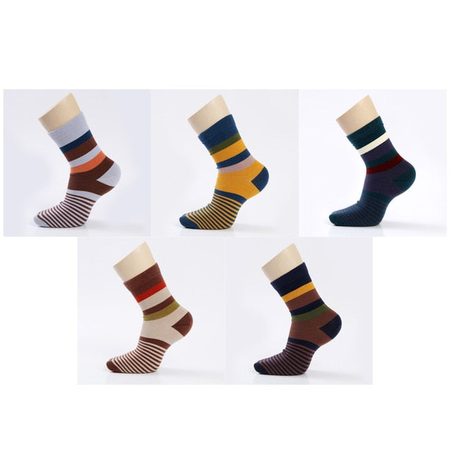5 Pairs/Lot Combed Cotton Men'S Socks Compression Socks - Sheseelady