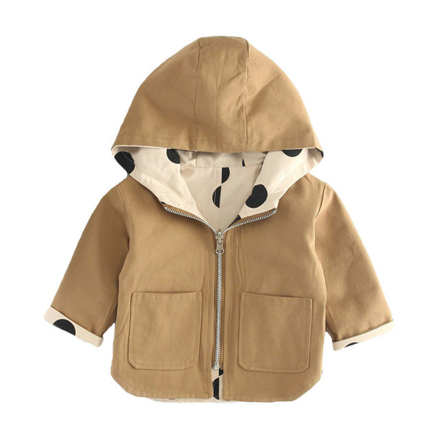 Baby Kids Jacket Coat Toddler Wear On Both Side Windbreak Fall Children Trench Coat Outerwear Baby Boys Girls Clothes - Sheseelady