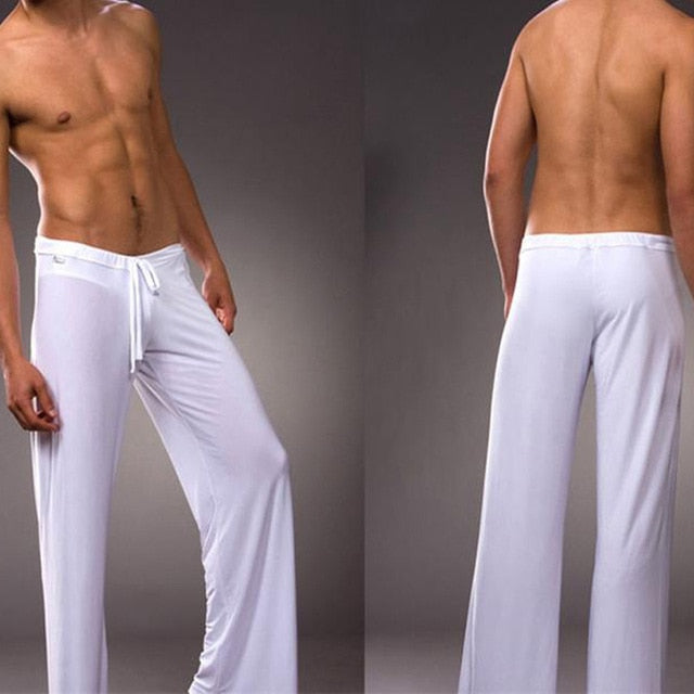 Man Long Pant Sleepwear Comfy Breathable Slip Trousers