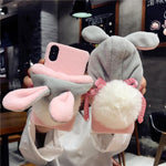 Fluffy Bunny iPhone Case-phone case-Shenzhen SGS Technology Co.,Ltd-DinoStreet