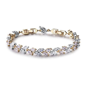 Austrian Crystals Wheat Bracelet