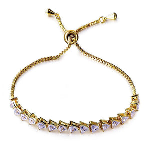 Synthetic Cubic Zirconia Copper Bracelet