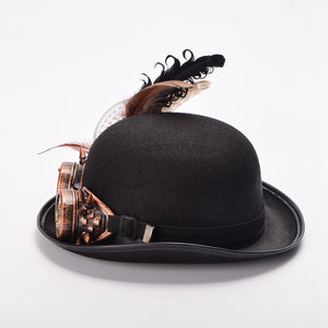 Vintage Steampunk Feather Hat