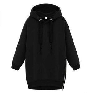 Zanzea Women's Long Sleeve Hooded Oversized Sweatshirt