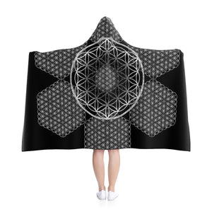 Flower of Life Fractal Hooded Blanket